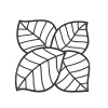 Panele dekoracyjne 4 szt. Koziol Leaf czarne
