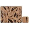 Zestaw 4 szt. podkładek 33,5x26cm Ladelle Feathers brązowo-czarny