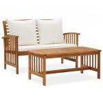 2-cz. zestaw wypoczynkowy do ogrodu, poduszki, drewno akacjowe