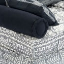 2-osobowa, rozkładana sofa modułowa, szara, tkanina