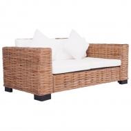 2-osobowa sofa ogrodowa, z naturalnego rattanu