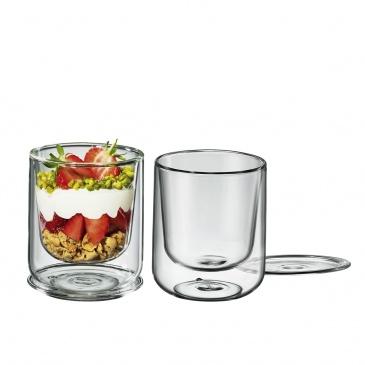 2 szklanki z podwójną ścianką do deserów, 0,25 l
