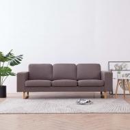 3-osobowa sofa tapicerowana tkaniną, taupe
