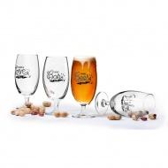 4 kieliszki do piwa w pudełku prezentowym 0,42 l Sagaform przeźroczyste