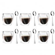 6 szklanek 250ml 5486 + 6 łyżeczek Beta 6094
