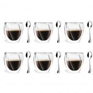 6 szklanek 250ml 5486 + 6 łyżeczek Epsilon 6100