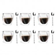 6 szklanek 250ml 5486 + 6 łyżeczek Gama 6124