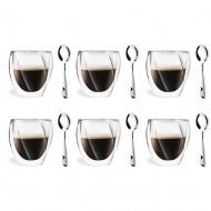 6 szklanek 250ml 5486 + 6 łyżeczek Lambda 6117