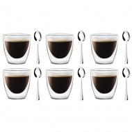 6 szklanek epresso 80ml 5837 + 6 łyżeczek Beta 6179