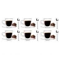 6 szklanek espresso 50ml 3055 + 6 łyżeczek Gama 6162