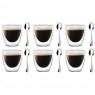 6 szklanek espresso 80ml 5837 + 6 łyżeczek Epsilon 6186