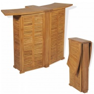 Bar ogrodowy, drewno tekowe, 155 x 53 x 105 cm