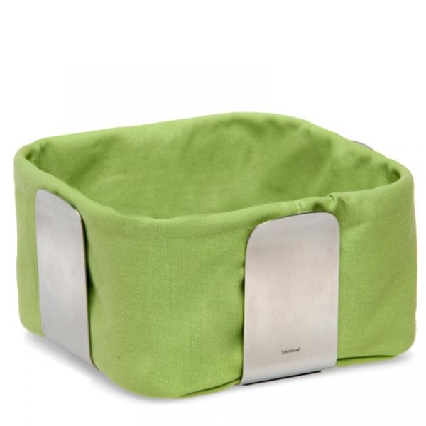 Bawełniany wkład do koszyka na pieczywo 19,5 cm Blomus Desa zielony 63468