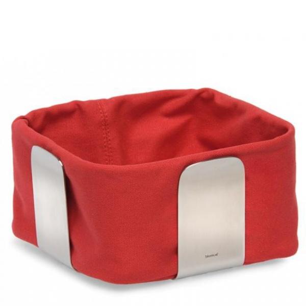 Bawełniany wkład do koszyka na pieczywo 25,5 cm Blomus Desa czerwony B63471