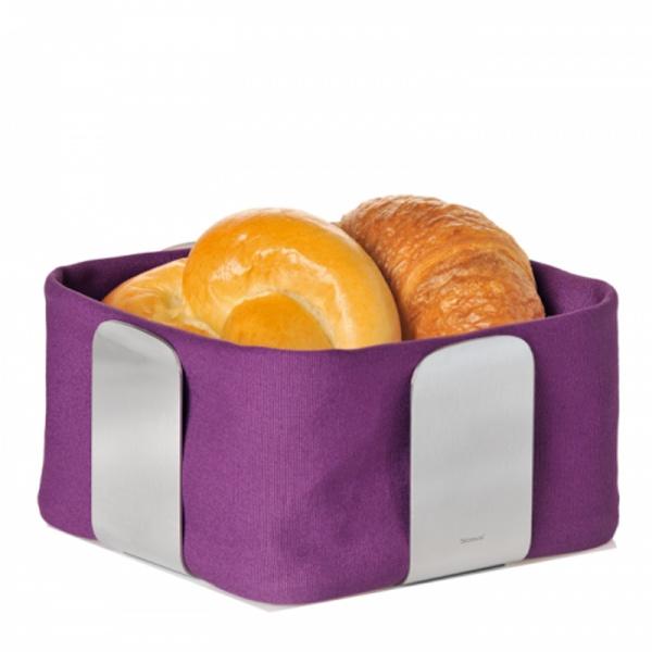 Bawełniany wkład do koszyka na pieczywo 25,5 cm Blomus Desa fioletowy 63532