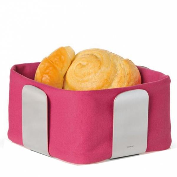 Bawełniany wkład do koszyka na pieczywo 25,5 cm Blomus Desa różowy 63534