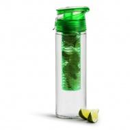 Bidon z pojemnikiem na owoce 750 ml Sagaform zielony