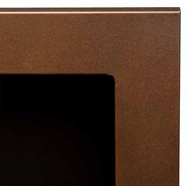Biokominek 650x400mm Globmetal brązowy