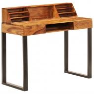 Biurko, 110x55x94 cm, lite drewno sheesham i stal