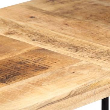 Biurko, 120 x 60 x 76 cm, lite drewno mango