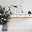 Biurko 120x50 Durbas Style Kółko Krzyżyk białe DUS300