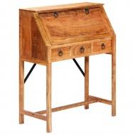 Biurko, 90x40x107 cm, lite drewno akacjowe