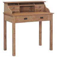 Biurko, 90x50x100 cm, lite drewno tekowe
