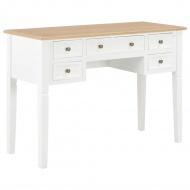Biurko, białe, 109,5x45x77,5 cm, drewniane