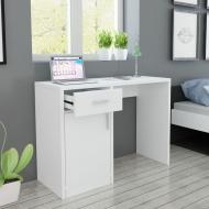 Biurko z szufladą i szafką w kolorze białym 100x40x73 cm