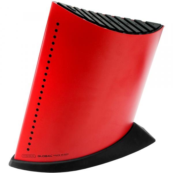 Blok na 9 noży w kształcie żaglowca – czerwony Global HK-GKB-52CR