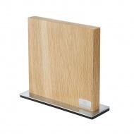 blok na noże magnetyczny, 10 noży, 28 x 9 x 25 cm, drewno dębowe