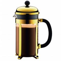 BODUM - Chambord - Tłokowy zaparzacz do kawy 1 l - Złoty