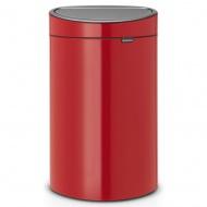 BRABANTIA - Touch Bin New - Kosz 40 l - Czerwony
