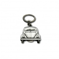 Brelok-żeton 4x8,3x0,6 cm BRISA VW Beetle srebrny