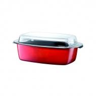 Brytfanna ze szklaną pokrywą 5,3 litra SILIT Passion Colours czerwona