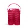 BUILT Bottle Buddy - Termoopakowanie do butelek podwójne (Baby Pink Mini Dots) BBY-BBD2-BMD