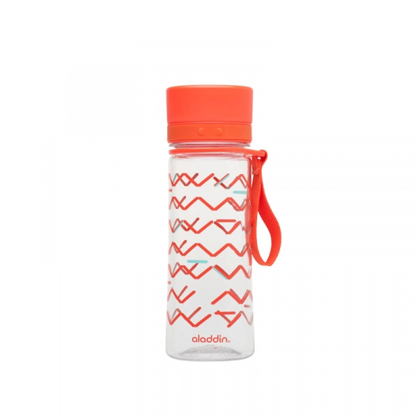 Butelka na napoje z nadrukiem 0,35 l Aladdin Aveo czerwona AL-10-01101-074