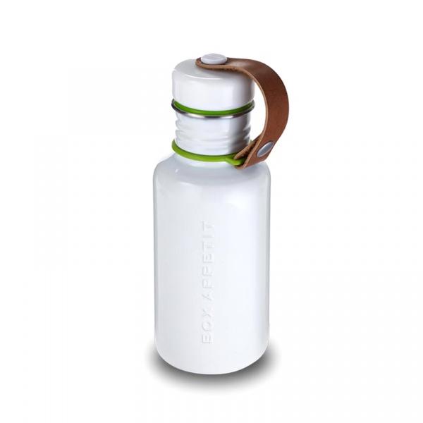 Butelka na wodę 350 ml Black&Blum stalowa biała BAM-WB-S002