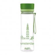 Butelka na wodę Amsterdam 0,6 l Aladdin Aveo zielona