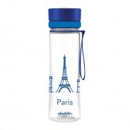 Butelka na wodę Paryż 600 ml Aladdin Aveo niebieska