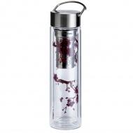 Butelka szklana na herbatę z pokrowcem 350 ml Eigenart Kwiat Wiśni