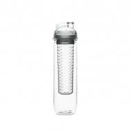 Butelka z pojemnikiem na owoce/lód 0,6 l Sagaform Fresh przezroczysta