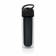 Butelka ze słomką 0,36l Xd design Duo czarna