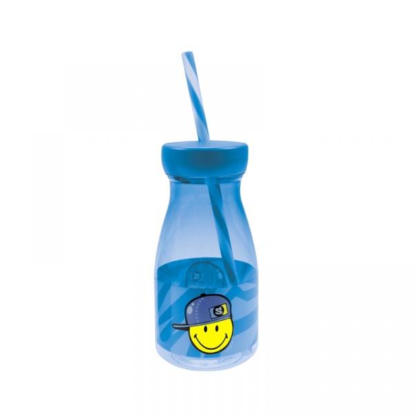 Butelka ze słomką dla chłopczyka 360 ml Smiley Kid Zak! Designs 6705-F730