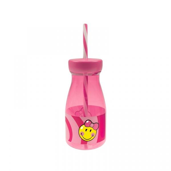 Butelka ze słomką dla dziewczynki 360 ml Smiley Kid Zak! Designs 6707-F730