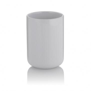 ceramiczna kubek łazienkowy, śred. 7,5 cm, wys. 10 cm, biały
