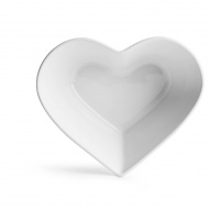 Ceramiczna miska serce 16x13,7x5,4 cm Sagaform biała