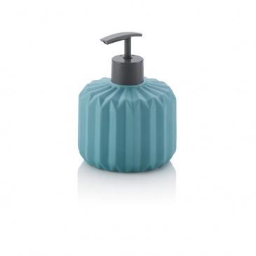 ceramiczny dozownik do mydła, 0,4 l, śred. 10 x 13 cm, turkusowy