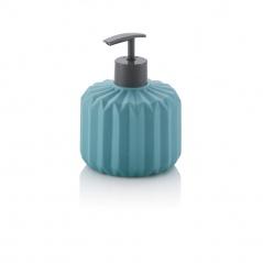 Ceramiczny dozownik do mydła 0,4l Kela Origami turkusowy