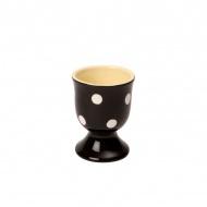 Ceramiczny kieliszek na jajko 5,5x7 cm Dexam czarny
